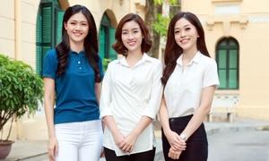 Hoa hậu Mỹ Linh và các Á hậu thăm các em nhỏ bị bệnh hiểm nghèo