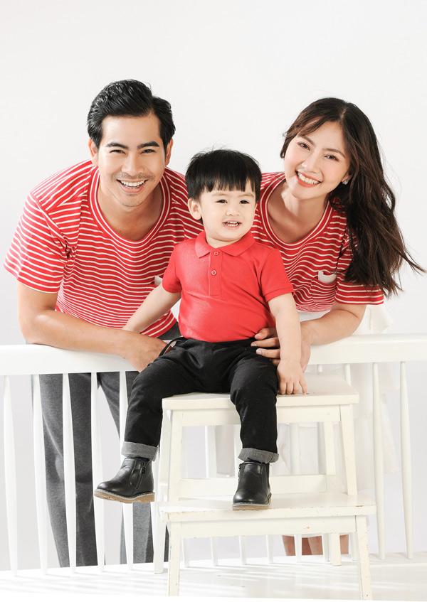 Quý tử của Ngọc Lan gần 2 tuổi, rất khôi ngô, lém lỉnh. Cậu nhóc là kết quả tình yêu của nữ diễn viên và ông xã Thanh Bình, sau hơn 2 năm về chung nhà.