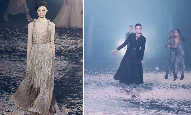 Nhiều người mẫu suýt ngã ở show Dior