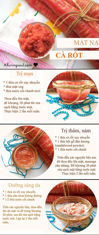 3 công thức mặt nạ trị mụn, dưỡng sáng da từ cà rốt - ảnh 1