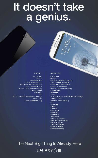 Tương quan tính năng hai chiếc smartphone trong mắt Samsung.