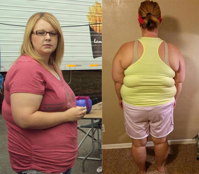 Thói quen ăn uống vô tội vạ, lười vận động khiến Tara từng chạm ngưỡng 114 kg.