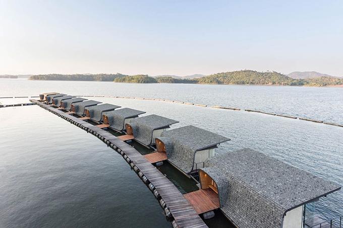 Resort nổi trên mặt nước sang xịn ở Thái Lan