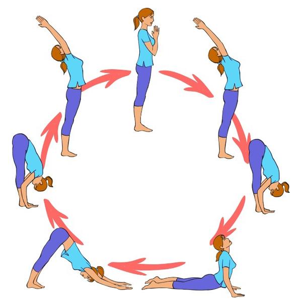 Động tác yoga Chào mặt trời giúp