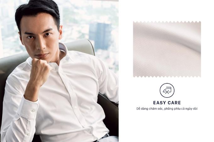 Không chỉ vậy, vải cotton công nghệ Easy Care còn sở hữu bề mặt chống nhăn dù khô hay bị ướt.