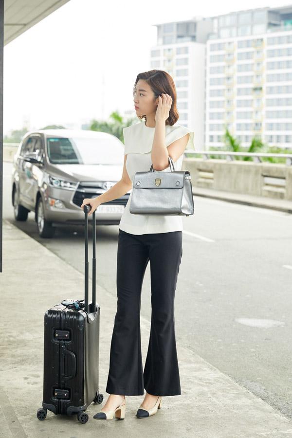 Hoa hậu Đỗ Mỹ Linh đọ mặt mộc với Phương Ly ở sân bay - 3