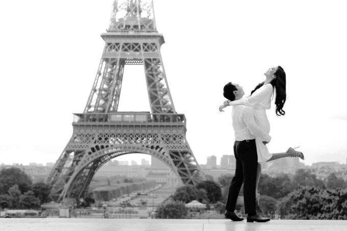 Lan Khuê chụp ảnh cưới với ông xã Tuấn John ở châu Âu