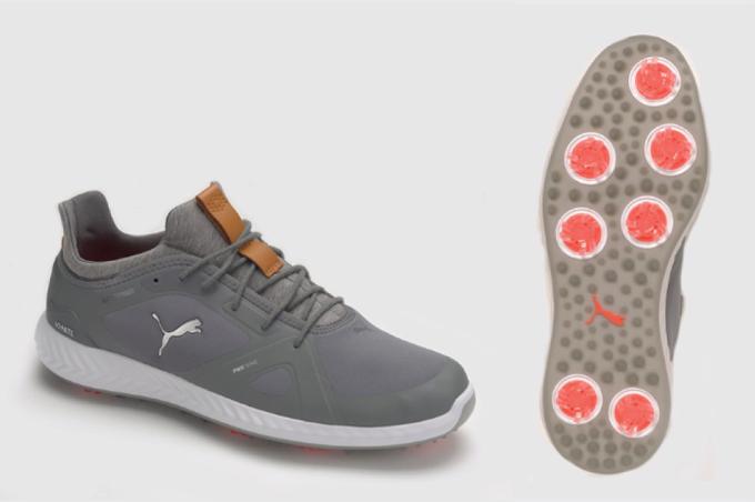 PUMA Ignite Pwradapt:Phần trên giày đặc biệt bởi cấu trúc hình tế bào và những sợi da nhân tạo tổng hợp - nét đặc trưng của Puma, đem lại cảm giác nhẹ thoángcho đôi chân. Đế ngoài được phối hợp linh hoạt từ các đường rãnh và lực kéo.Đệm giày foam đáp ứngsự thoải mái và ổn định, trong khi mũ giày làm từ sợi microfiber, lớplót vải dệt và chỉ nối sợi lớn giúp giày bền lâu hơn.