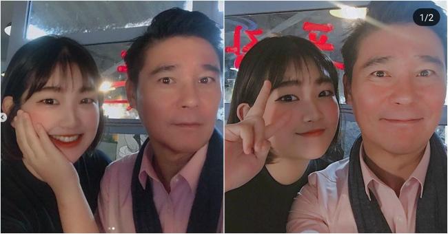 Con gái Choi Jin Sil chia sẻ ảnh chụp cùng bạn của mẹ trên trang cá nhân.