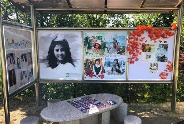 Những hình ảnh đẹp của Choi Jin Sil khi cô còn sống được trưng bày để khán giả chiêm ngưỡng.
