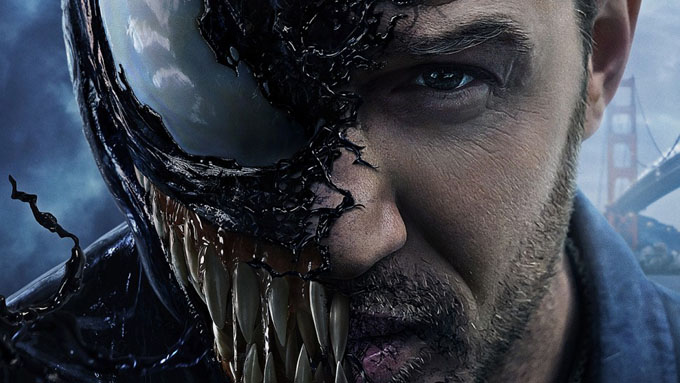 Tom Hardy với tạo hình nửa người nửa Venom. Ảnh: Screen Rant