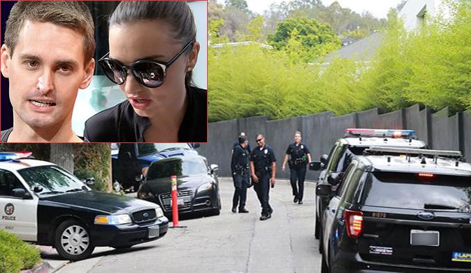 Cảnh sát đến hiện trường nơi xảy ra vụ trộm.