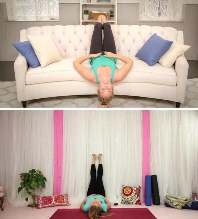 Đưa chân lên cao, sao cho vuông góc với mặt sàn và giữ nguyên tư thế trong vài phút sẽ giúp bạn tránh khỏi tình trạng giãn tĩnh mạch sau này.