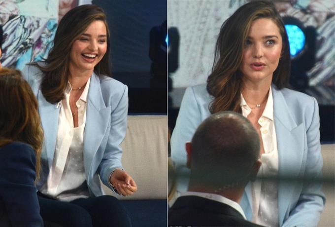 Miranda Kerr trong cuộc phỏng vấn hôm 3/10.