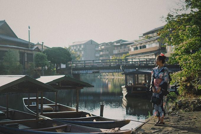 Nhiều khung cảnh bình yên của Nhật Bản được ê kíp đưa lên MV.