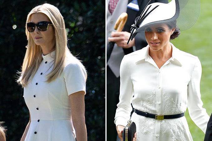Meghan thần tượngcon gái Trump, liên tục diện đồ na ná - 5