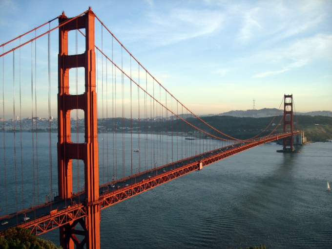 Cây cầu Cổng Vàng nổi tiếng.