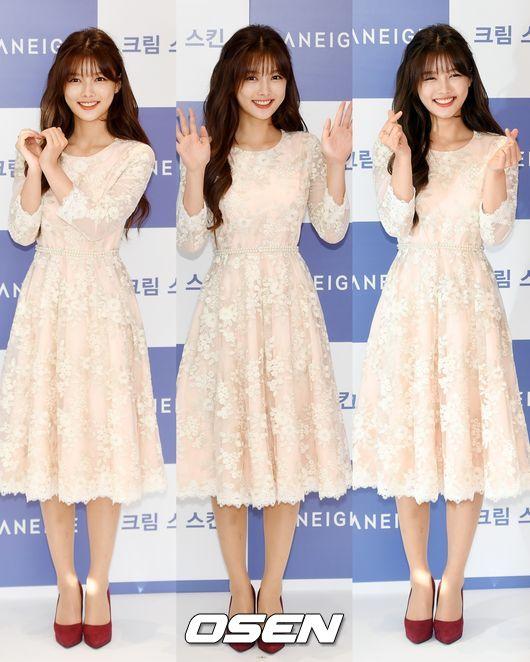 Từ một nhóc tì đáng yêu, giờ Kim Yoo Jung lột xác thành thiếu nữ xinh đẹp.