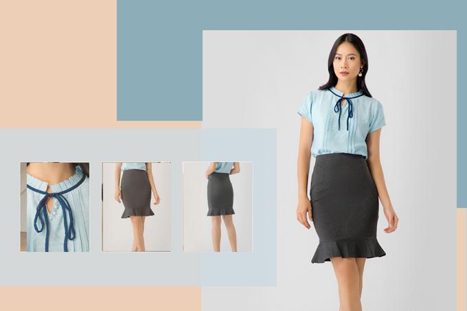 Trang phục công sở hợp mốt cho nàng đẹp cả tuần - ảnh 3