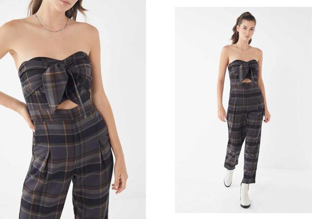 Jumspsuit vạt quấn dành cho các bạn gái có vóc dáng mảnh mai, bờ vai thon gọn khi xuống phố. Khi mixthêm một mẫu áo khoác mỏng màu đơn sắc hoặc trung tính, các nàng sẽ có ngay set đồ đến văn phòng hợp mốt.