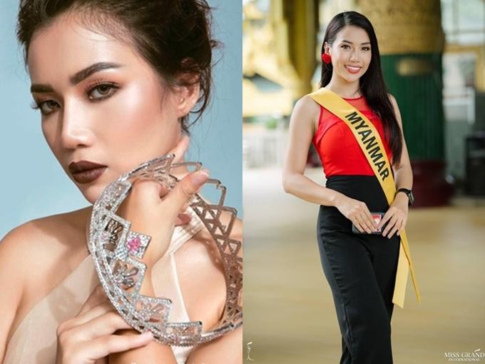 Nhan sắc Hoa hậu chủ nhà - Sumyat Phoo đến từ Myanmar trông sắc nét và cuốn hút. Bất lợi của cô là chiều cao thấp chỉ 1,67m.