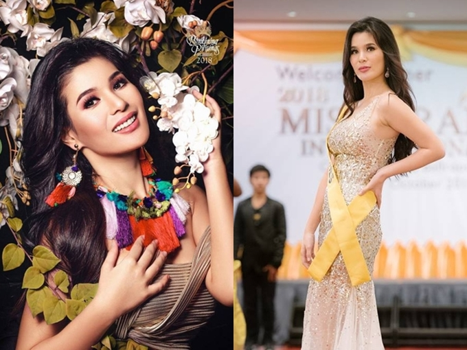 Philippines cử người đẹp  Eva Patalinjug dự thi Hoa hậu Hòa bình quốc tề 2018. Eva có gương mặt khả ái, chiều cao 1,7m và năm nay 24 tuổi.