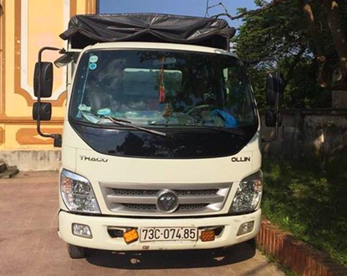Xe tải dùng để chở bò ăn trộm. Ảnh: Hùng Lê