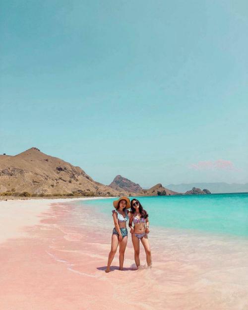 Bãi biển ở đảo Komodo được đánh giá là thoai thoải, nước trong, không có sóng ngầm nguy hiểm nên du khách có thể thỏa thích đi dạo, tắm biển và lặn ngắm san hô.