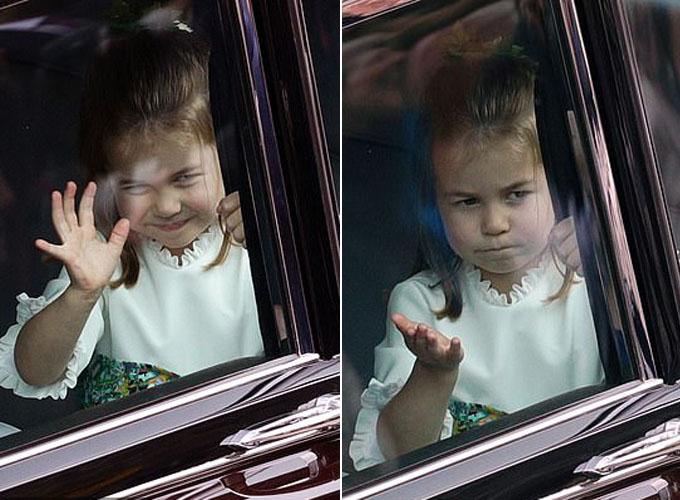 Cô bé được nhận xét là đáng yêu, tự tin, có nhiều tố chất của người hoàng gia từ bé.