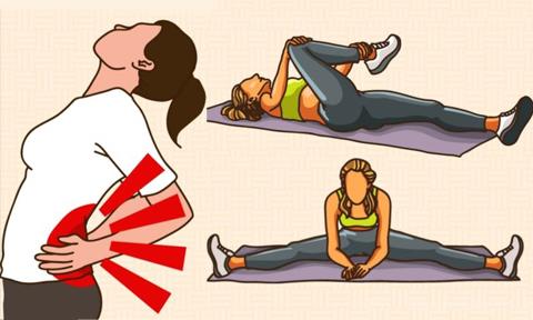 7 động tác chữa đau lưng, giảm nguy cơ cong vẹo cột sống