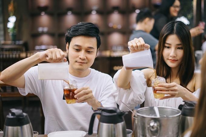 Diễm My, Quang Vinh học cách làm trà sữa Đài Loan - 2