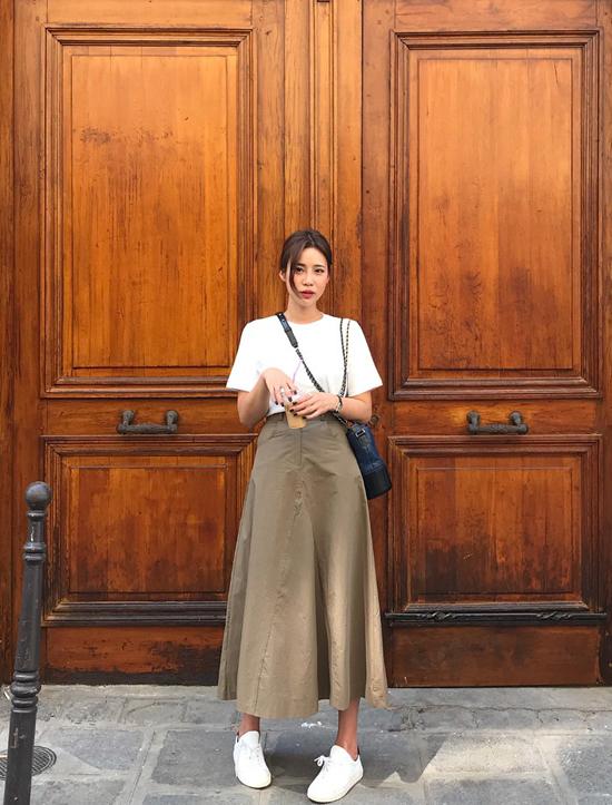 Phối chân váy ka ki hợp mốt mùa thu cho nàng công sở - 7