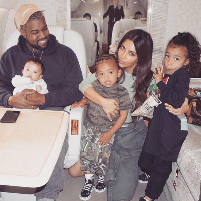 Vợ chồng Kim-Kanye đã có 3 nhóc tỳ.