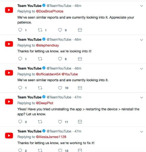 Team YouTube trả lời lời phàn nàn mệt nghỉ sau hơn một giờ sập.