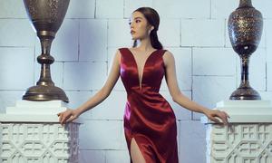 Hoa hậu Kỳ Duyên quyến rũ hơn sau nâng cấp vòng một