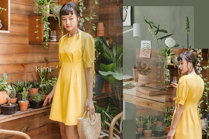 Store Ngôi Sao giảm 20% cho sản phẩm đầm chít eo tay thắt dây vàng. Mua sản phẩm với mức giá ưu đãi tại đây.