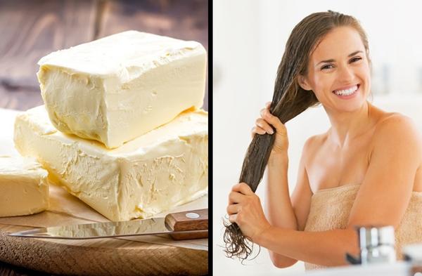 Dùng bơ Dùng bơ massage da đầu và tóc trong khoảng 5 phút, ủ tóc thêm 30 phút nữa với mũ tắm rồi gội sạch lại.