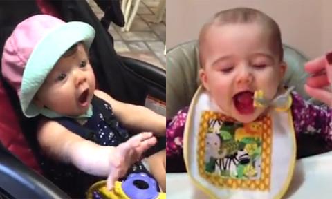 1001 biểu cảm của các em bé háu ăn