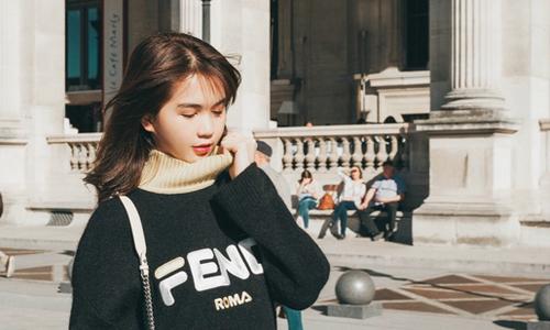 Ngọc Trinh diện hàng hiệu dạo phố Paris