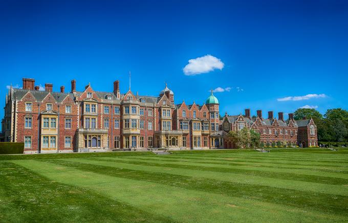 Khu quần thể bất động sản Sandringham ở hạt Norfolk của Nữ hoàng Anh. Ảnh: Gary Williams.