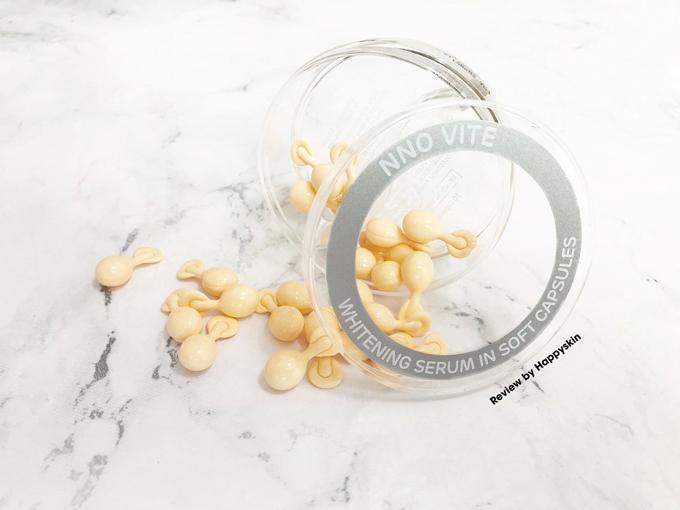 Viên nang đục serum NNO Vite giúp nuôi dưỡng làn da trắng sáng, cải thiện nếp nhăn.