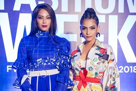 Trương Thị May đọ dáng cùng Á hậu Hoàn vũ 2016