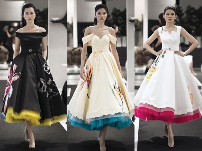 Công Trí thể hiện sự khéo léo trong cuộc chơi kết hợp màu sắc cho trang phục.