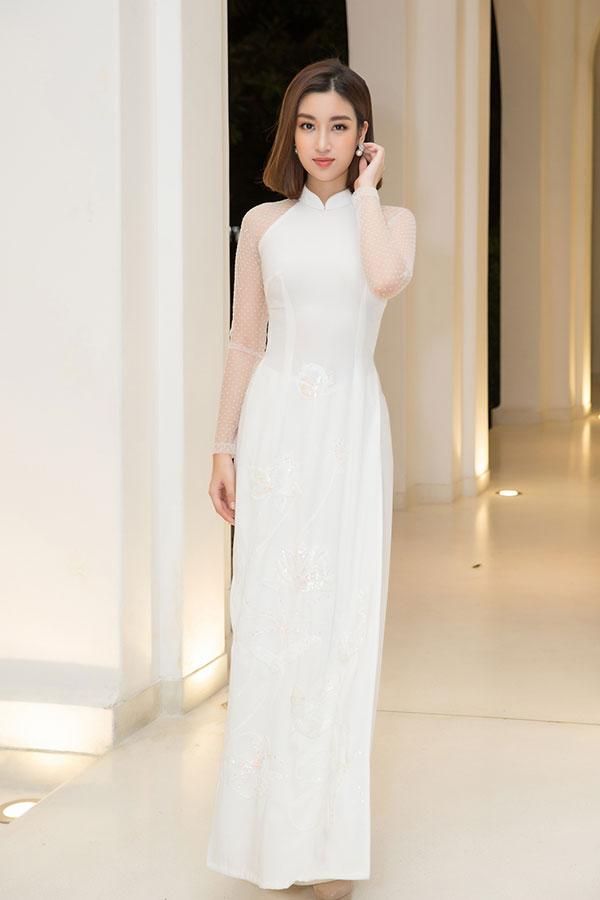 Hoa hậu Mỹ Linh cho biết luôn dành thiện cảm với tà áo truyền thống và thường xuyên khoác lên mình khi tham dự các sự kiện quốc tế.