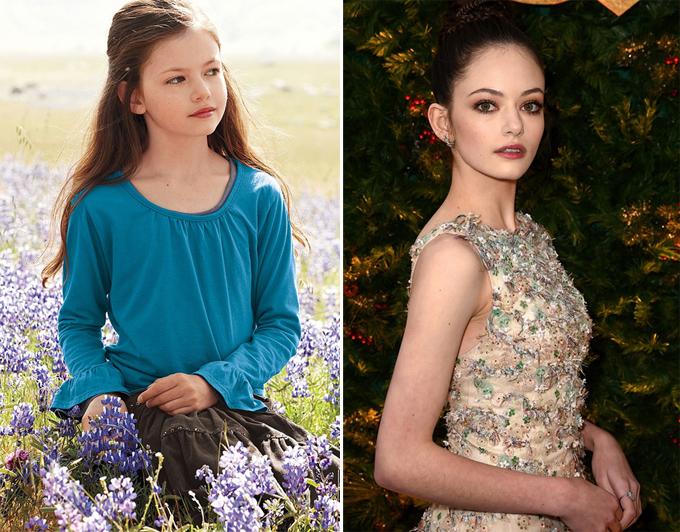 Mackenzie từng nổi tiếng vào năm 2012 khi đóng vai cô con gái nửa người nửa ma cà rồng Renesmee của Bella và Edward Cullen trong phim Hừng đông 2 (ảnh trái). Thời điểm đó, Mackenzie mới 11 tuổi và đang là một người mẫu nhí. 6 năm trôi qua, cô đã trở thành một thiếu nữ 17 tuổi xinh đẹp, phổng phao.