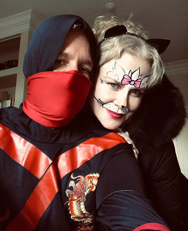 Vợ chồng Nicole Kidman và Keith Urban trở thành Miêu nữ và Ninja.