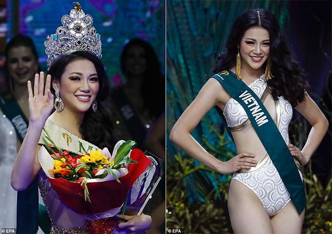 Phương Khánh nhận được rất nhiều lời khen ngợi của khán giả quốc tế về nhan sắc và ứng xử thông minh trong đêm chung kết.