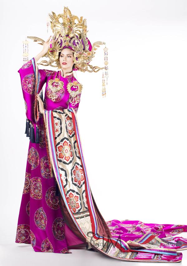 Người đẹp Kim Nguyên tiết lộ trang phục thi Hoa hậu châu Á - 1