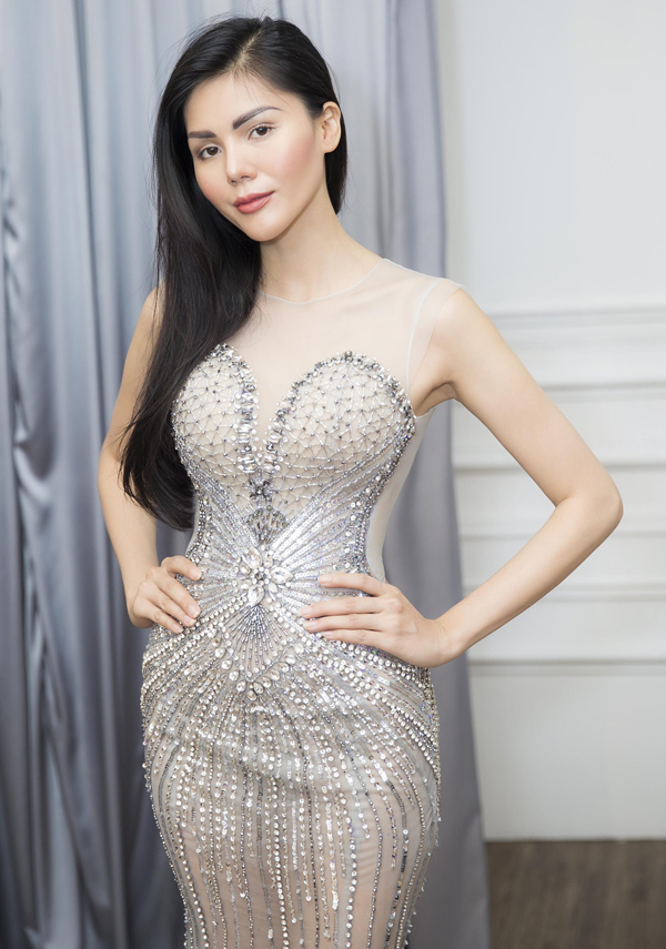 Người đẹp Kim Nguyên tiết lộ trang phục thi Hoa hậu châu Á - 4