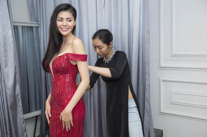 Người đẹp Kim Nguyên tiết lộ trang phục thi Hoa hậu châu Á - 5